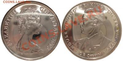 Монеты-портретники с двух сторон - 16_gibraltar_1cr_1993