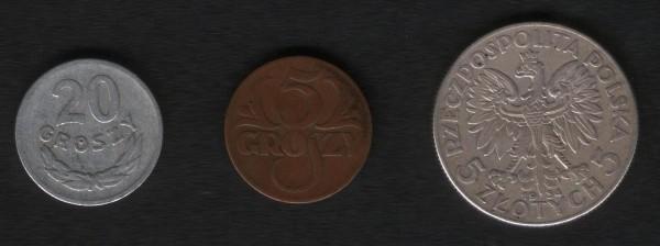 Польша. 5 грошей 1934, 20 грошей 1957 - 002.JPG