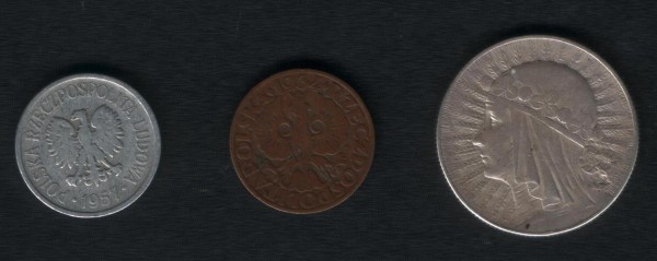 Польша. 5 грошей 1934, 20 грошей 1957 - 001.JPG