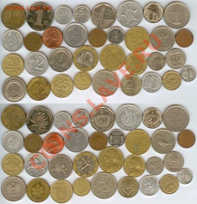 34 монеты из 18 стран до 21.00 мск 30.09.2013 - 34 монеты