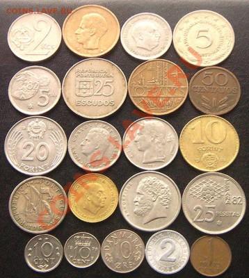 42 разные монеты (смотрите фото и описание). До 26.09_22.18м - 6479