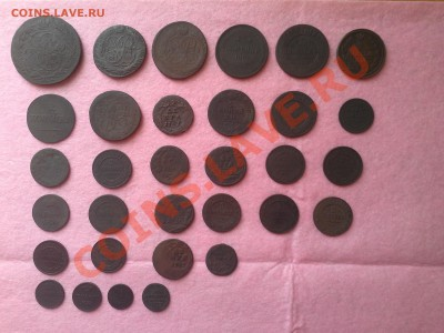 одним лотом 32 имперские медные монеты, от петра до николая - 20130926_115638