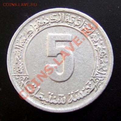 АЛЖИР 5 сантимов (1974) ФАО до 01.10 (22.00) - Алжир 5 сантимов (1974) ФАО Р