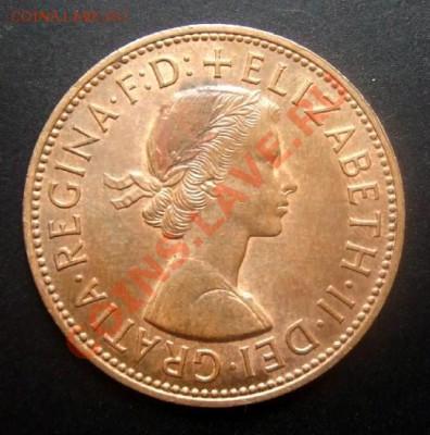 ВЕЛИКОБРИТАНИЯ 1 пенни (1962) до 01.10 (22.00) - Великобритания 1 пенни (1962) №2 А