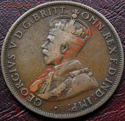 АВСТРАЛИЯ - 1 пенни 1918 I - Георг V - до 4 октября - 438
