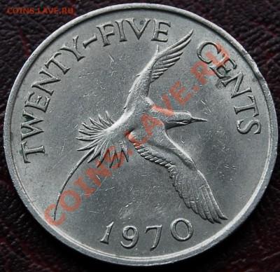 БРИТАНСКИЕ БЕРМУДЫ - 25 центов 1970 - до 4 октября - 453