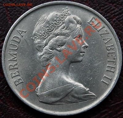 БРИТАНСКИЕ БЕРМУДЫ - 25 центов 1970 - до 4 октября - 454