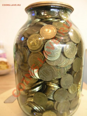 1560 монет номиналом 10 рублей  в копилке - P1011761.JPG