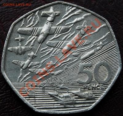 ВЕЛИКОБРИТАНИЯ - 50 пенсов 1994 - Нормандия - до 5 октября - 558