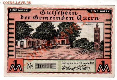 Германия, QUERN, комплект 3×25₰+2×50₰+1 M, до 4.10 @ 22:00 - banknote_0921