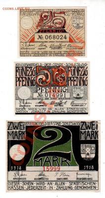 Германия, SCHLESWIG, 25₰+50₰+2M (1918), до 4.10 @ 22:00 - banknote_0922