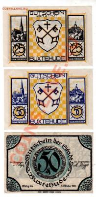 Германия, BUXTENHUDE, 25₰+2×50₰, до 4.10 @ 22:00 - banknote_0924