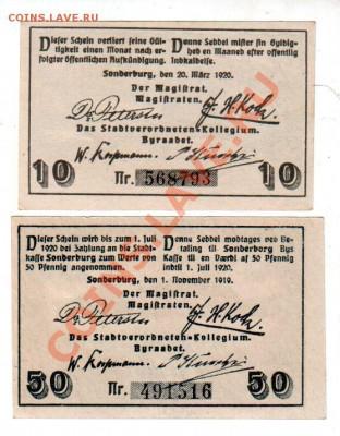 Германия, SONDERBURG, 10₰+50₰, до 4.10 @ 22:00 - banknote_0927