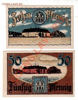 Германия, SONDERBURG, 10₰+50₰, до 4.10 @ 22:00 - banknote_0926