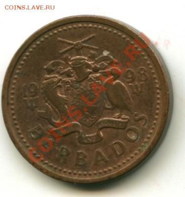 1 цент Барбадос  Год: 1998 до 04.10.2013 22-00мск - барбад.......................