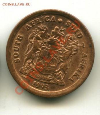 1 цент ЮАР,птицы  Год: 1993 - юар1...............