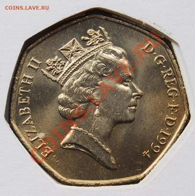 ВЕЛИКОБРИТАНИЯ - 50 пенсов 1994 - Нормандия - до 7 октября - 615