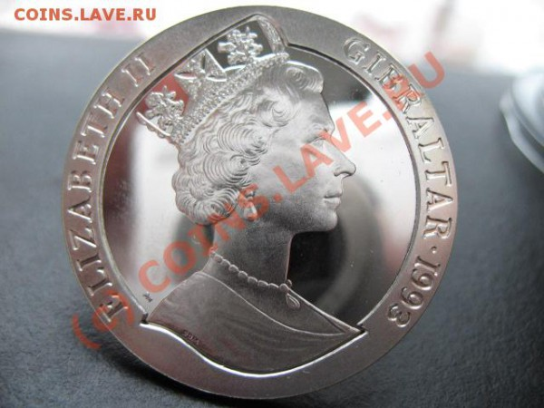 Монеты на монетах - Ag999, 500 Francs Бенин (Dahomey) - гибралтар мон