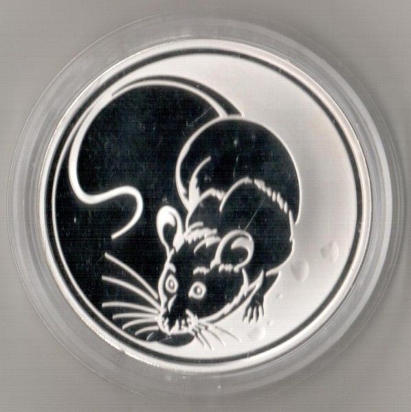3 рубля, 2008 год. Лунный календарь. Год крысы. - Мышь.JPG