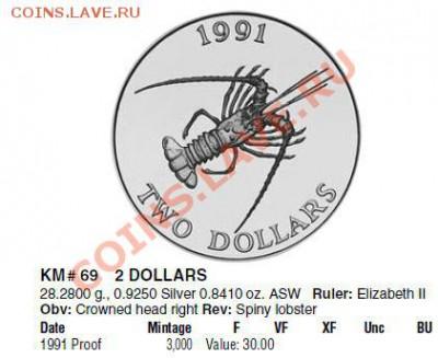 Монеты с крабами, лобстерами, креветками - BERMUDA_1
