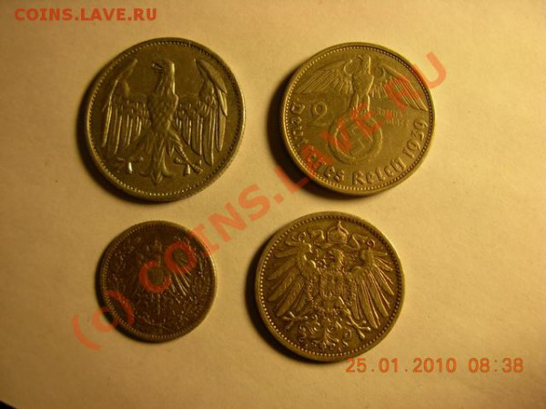 5 марок 1876 г.5 марок 1907г - DSCN1319
