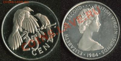 Брит.Виргинские острова 25 центов 1984 до 22:00мск 04.12.13 - Британские Виргинские острова 25 центов 1984 (180)