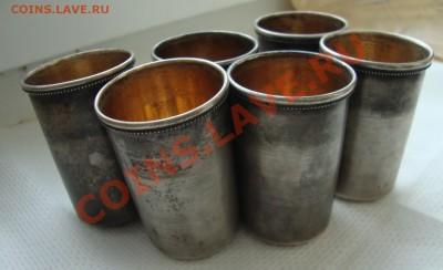 6 стопок, серебро 84 пробы, клеймо СП - W3