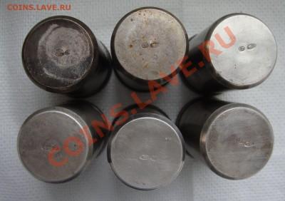 6 стопок, серебро 84 пробы, клеймо СП - W1