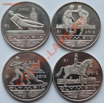 Британские Виргинские острова 4х1 доллар 2009.Олимпиада. - 1