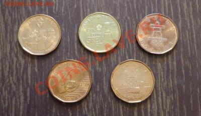 КАНАДА - 1 доллар 5 штук без повторов до 8.12, 22.00 - канада набор долларов 5 шт - 1