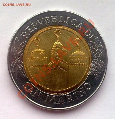 РЕДКИЙ БИМЕТАЛЛ - САН-МАРИНО 500 ЛИР 2001 - 021220139106