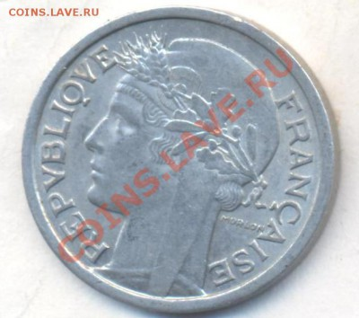 Франция 1 франк 1959 г. Состояние.  06.12.13 г. 22-00 МСК . - Франция 1 фр 19591