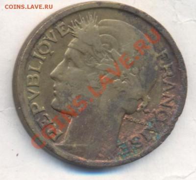Франция 2 франка 1933 г.  06.12.13 г. 22-00 МСК . - Франция 2 фр 1933 1