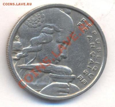 Франция 100 франков 1955 г. 06.12.13 г. 22-00 МСК . - Франция 100 фр 1955