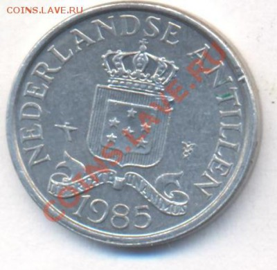 Нид. Антиллы 1 цент 1985 г. 06.12.13 г. 22-00 МСК . - Нид. Антиллы 1 ц 1985 1