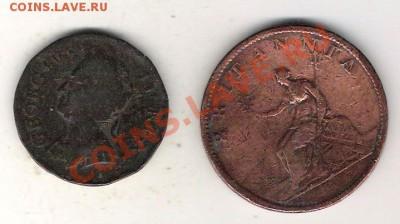 Англия 2 монеты 18-19 век век С 1 РУБЛЯ ! до 8.12 в 22-оо - Англия 1
