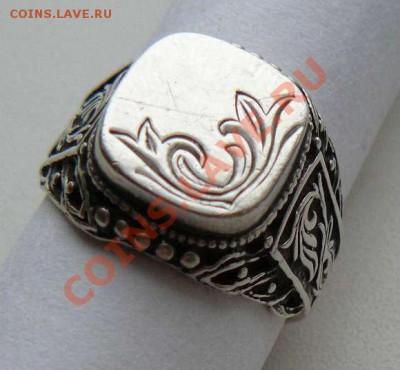 Серебрянный перстень с рисунком, до 05.12.2013 22-00 Мск - Перстень с рисунком. 2