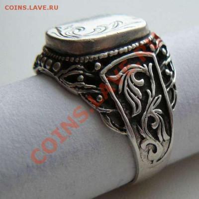 Серебрянный перстень с рисунком, до 05.12.2013 22-00 Мск - Перстень с рисунком.  3