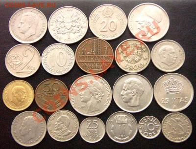 40 разных монет (см. фото и описание). До 08.12_22.22мск - 7047