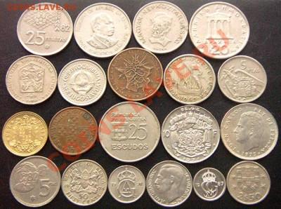 40 разных монет (см. фото и описание). До 08.12_22.22мск - 7048