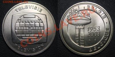 КИНЕМАТОГРАФ на монетах и жетонах - Жетон - 50 лет телевидению Бельгии