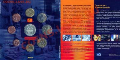 КИНЕМАТОГРАФ на монетах и жетонах - Набор монет Бельгии 50 лет телевидению - 2