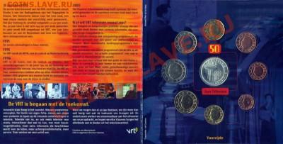 КИНЕМАТОГРАФ на монетах и жетонах - Набор монет Бельгии 50 лет телевидению - 1