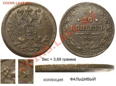 Фальшивые монеты России до 1917г сделанные в ущерб обращению - 22