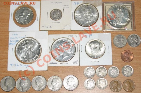 доллары серебрянные - сша
