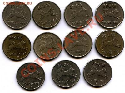 Норвегия 5,10 эре 1980. - img384-50