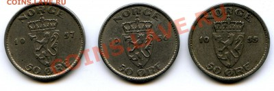 Норвегия 5,10 эре 1980. - img383
