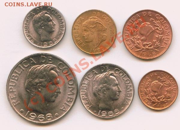 Колумбия 1-50 сентавос - Image13
