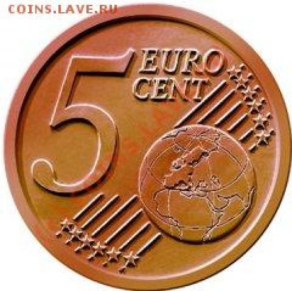 Диаметр 21,25 мм; толщина 1,36 мм; вес 3,92 г; цвет красный; состав - сталь с медным покрытием; гурт гладкий. Дизайн - страны Европы на земном шаре. - C_5c