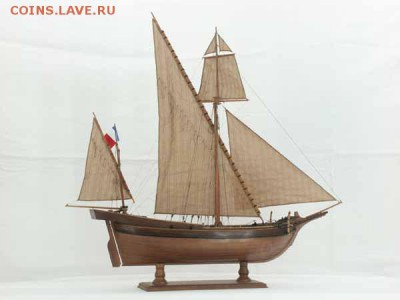Монеты с Корабликами - ship French tartane of 1810